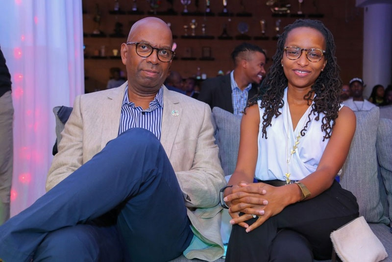 Bob Collymore's wife Wambui sends love his way as he resumes work