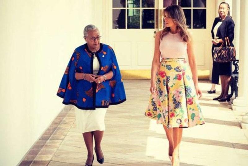 Melania Trump's message after meeting Kenya's First Lady Margaret Kenyatta