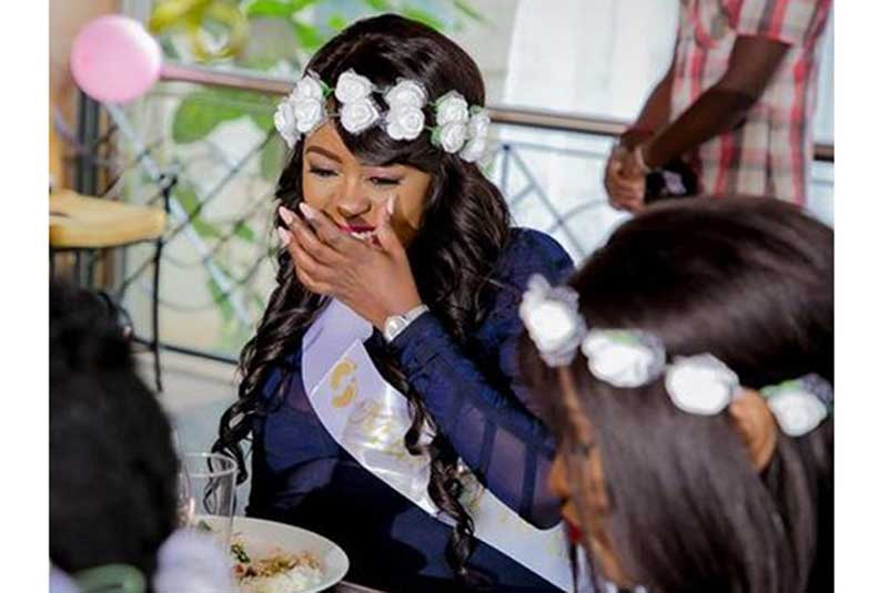 Photos: Lilian Muli treated to a surprise Baby shower attended by media bigwigs