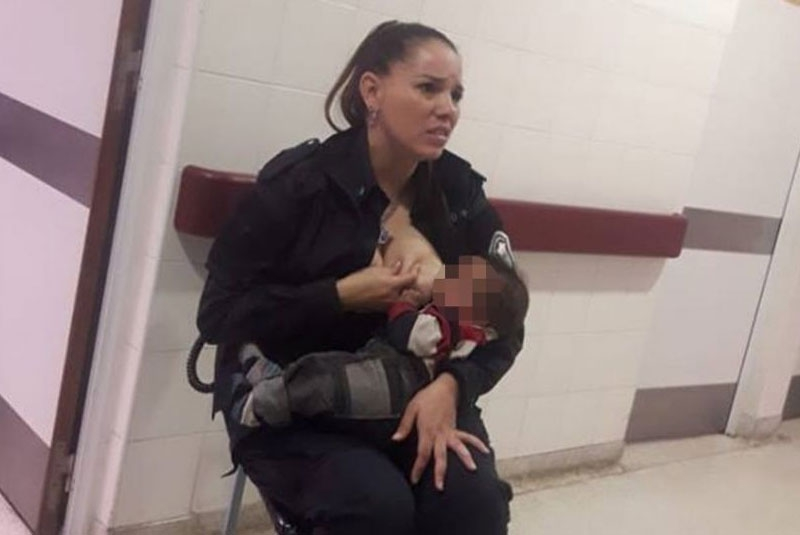 Selfless Argentinian cop gets promotion after breastfeeding 'dirty, malnourished' baby