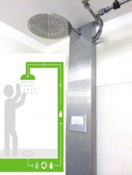 Water recycling shower