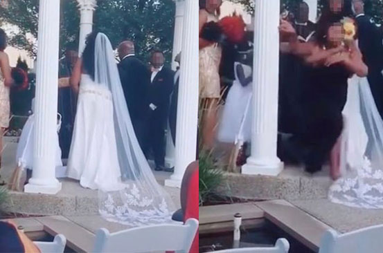 Bride's wedding day crashed by woman claiming to be pregnant with groom's child