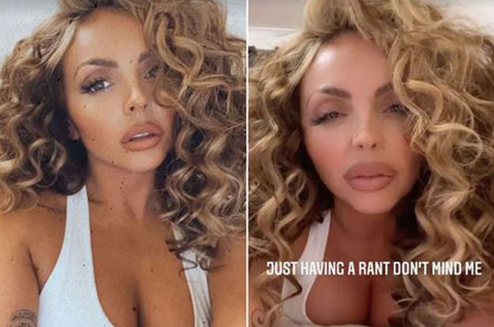 Jesy Nelson slams face-altering filters and urges fans to 'embrace' natural beauty