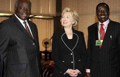 Memories of Hillary's past visits to Kenya