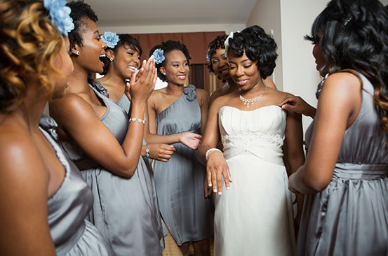 Seven ways to style your wedding party