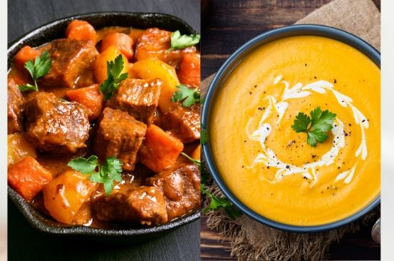The difference between a stew and a soup
