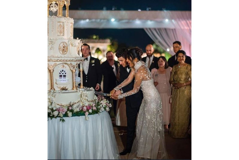 Photos from celebrity couple Nick Jonas and Priyanka Chopra's wedding