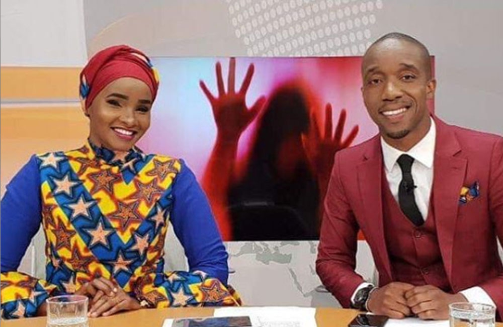 Couple goals: Photos of TV beauty Lulu Hassan and husband Rashid Abdallah at work that got us drooling