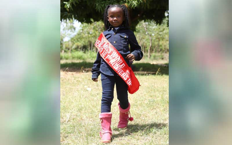 Meet six-year-old model from Lupita's village looking to take the world by storm