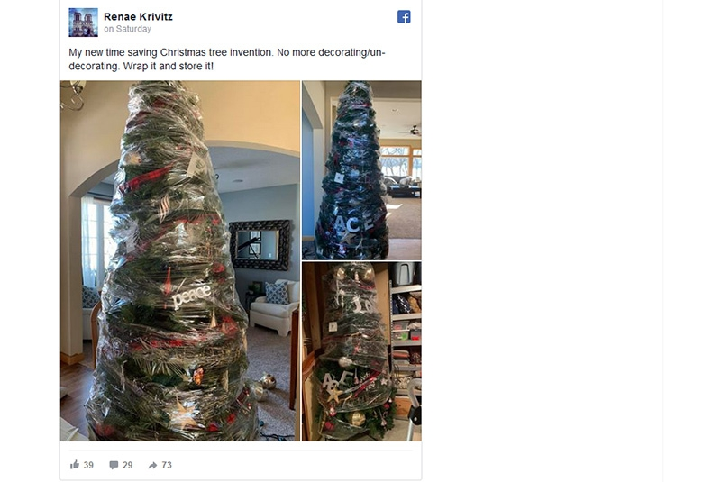 Mum's 'genius' hack for packing away Christmas tree will save you loads of time