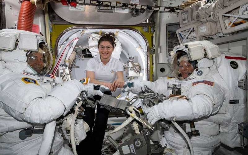 NASA cancels first all-female spacewalk due to a lack of suitable spacesuits