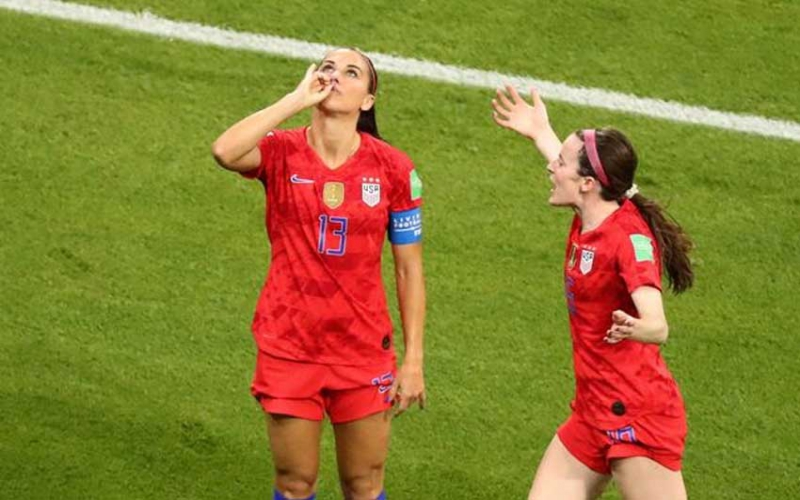 USA star explains controversial 'cup of tea' goal celebration in World Cup victory over England