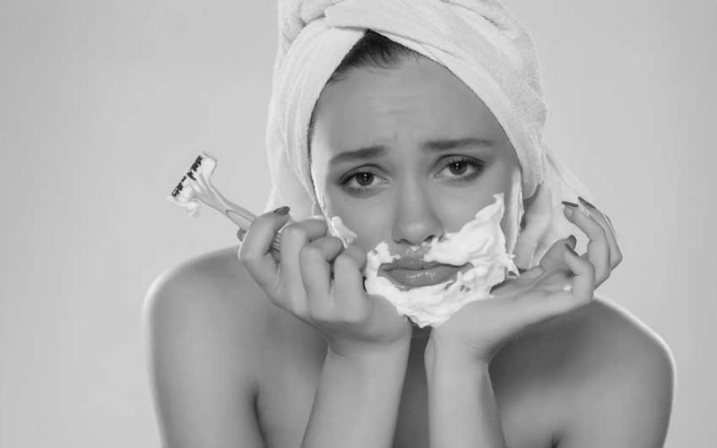 What happens when a woman gets facial hair?