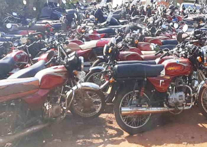 Confiscated bodas bodas in Nairobi CBD and the new millionaires in town
