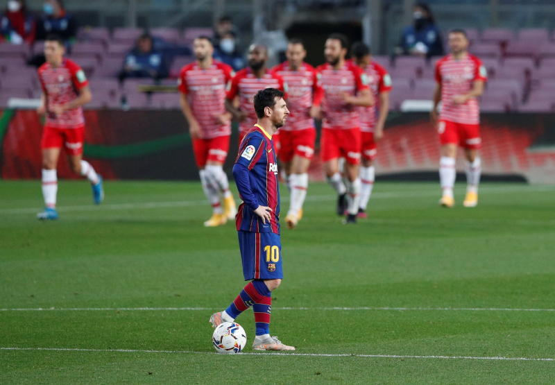 Barca stunned by Granada, blow chance to move top of La Liga : The standard Sports