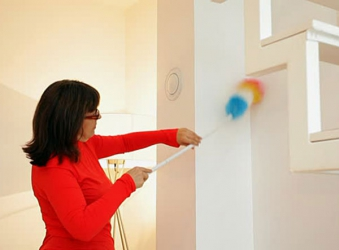 Easy ways to dust and clean your house walls