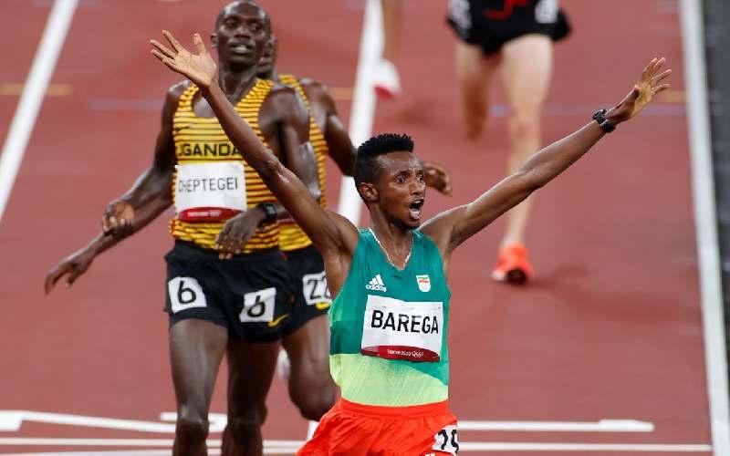 Olympics: Selemon Barega of Ethiopia extends Kenya's 53 years wait after winning 10,000m