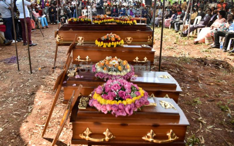 Mother, three children killed in house fire laid to rest