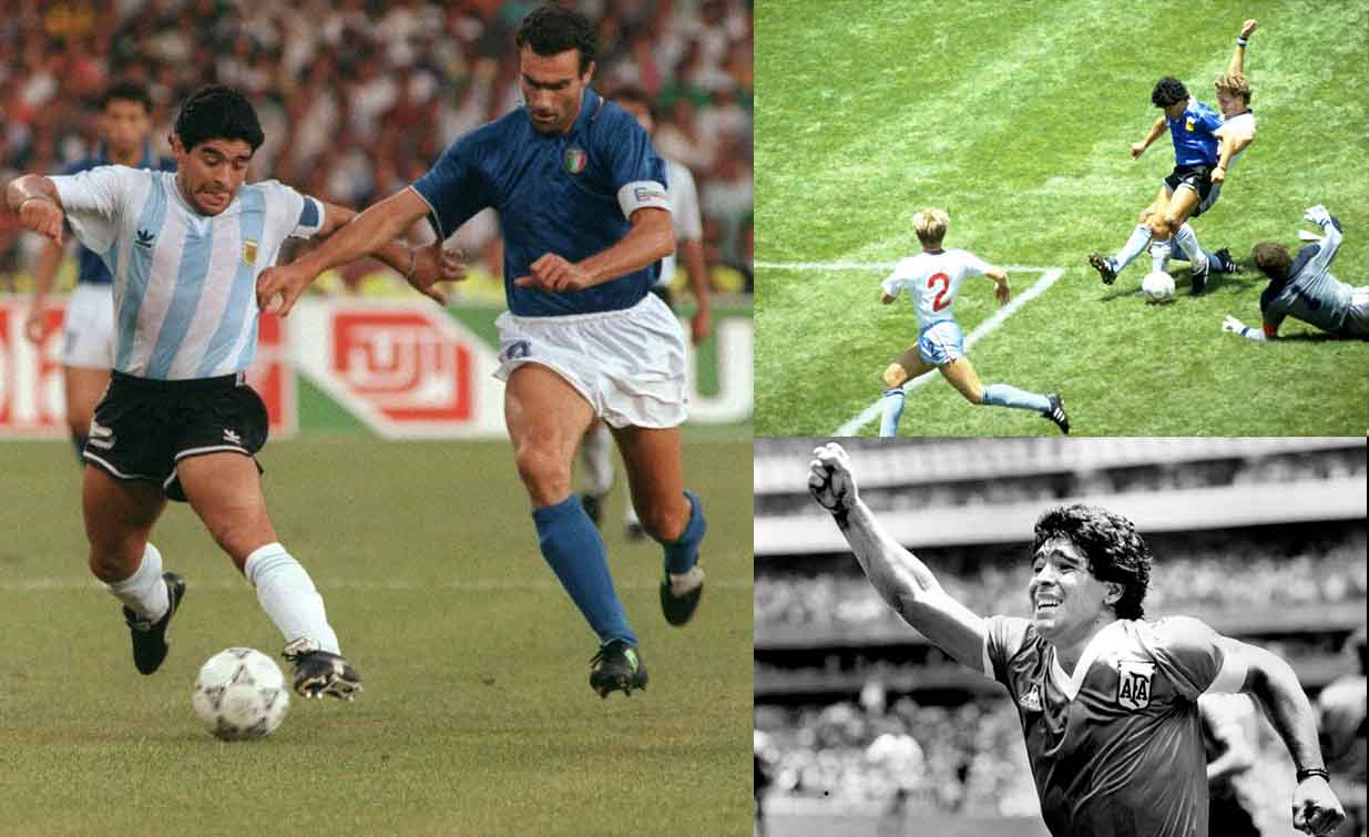 Five greatest goals by the ball wizard Diego Maradona