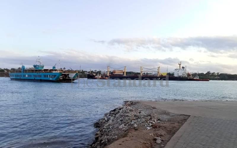 Giant ship stalls, blocks Likoni ferry channel