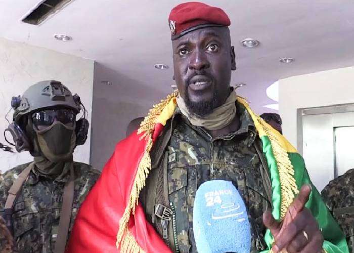 Guinea junta chief to be sworn in Friday as interim president