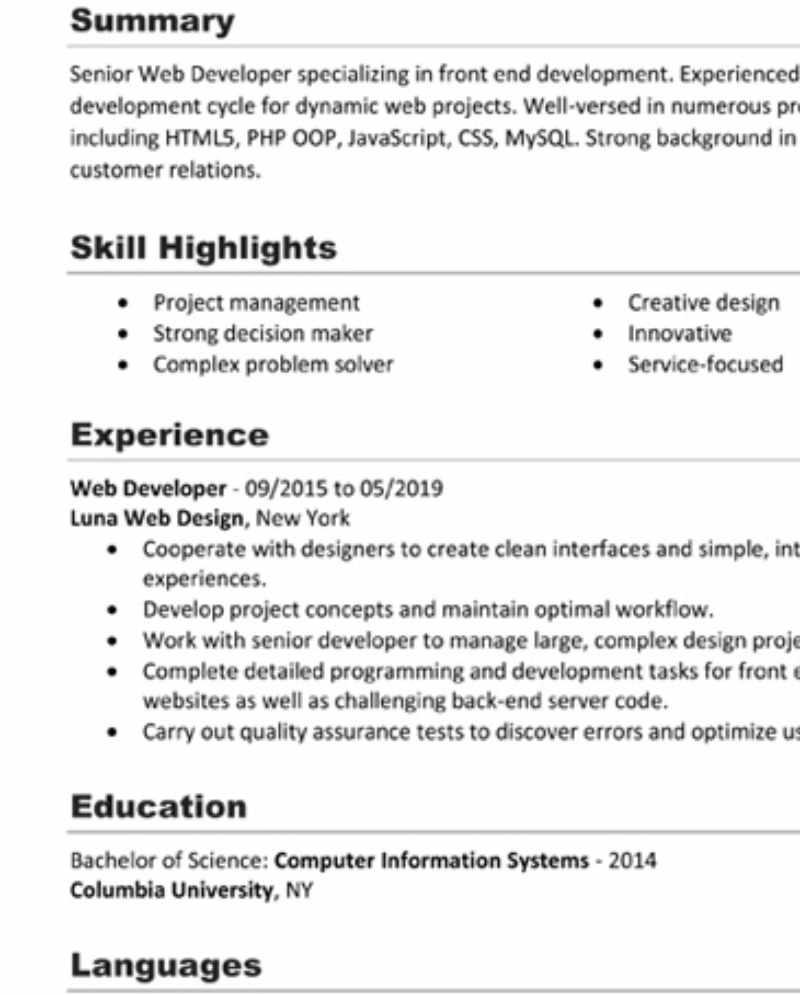 How to write a job-landing CV
