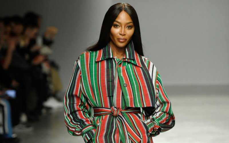 Supermodel Campbell Showcases Kenyan Outfit The Standard