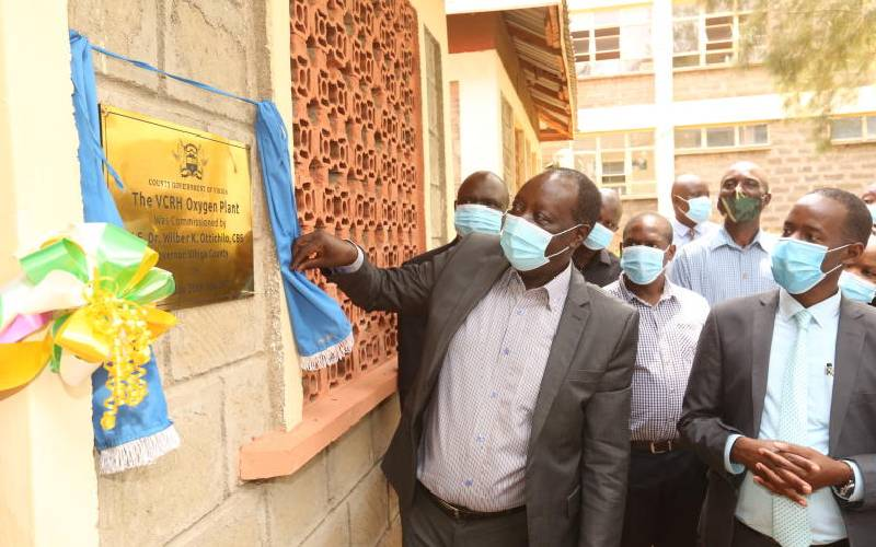 Lack of enough oxygen, Covid-19 testing kits put counties in a fix