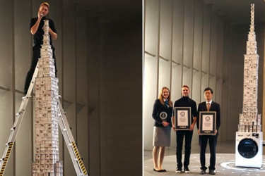 LG and Bryan Berg have set new world record for tallest house of cards