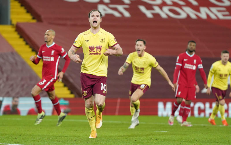 Liverpool 0-1 Burnley: Dismal Reds see unbeaten home run ended