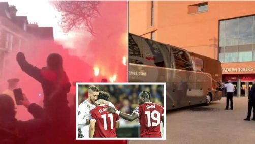 Liverpool apologise after fans damage Real Madrid's team bus- police launch investigation