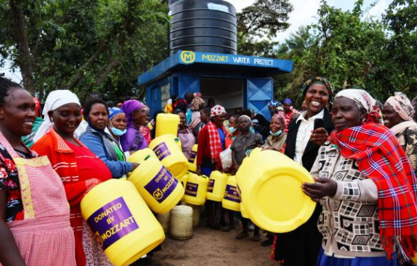 Mozzart provides clean water for the people of Bomet County