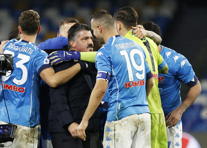 Napoli put five past Lazio to strengthen top-four credentials