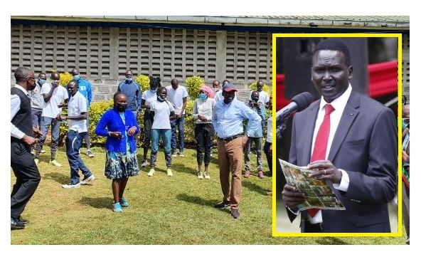 Olympics Kenya President Tergat pays a visit to the Refugee Olympic Athletes