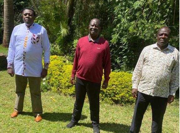 Raila receives brief on night talks with DP