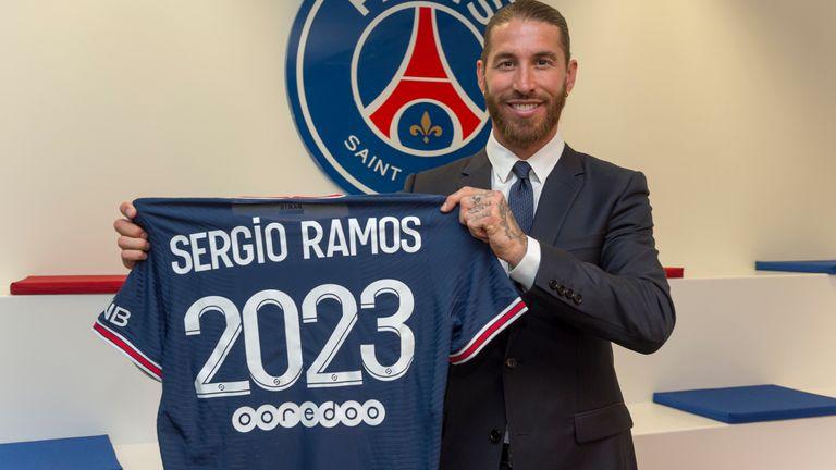 PSG sign Spain defender Ramos on free transfer
