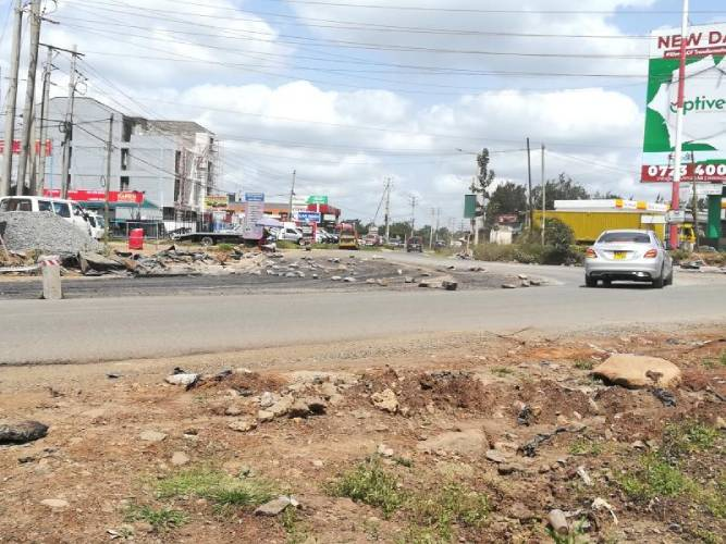 Road near DP Ruto's residence a nightmare for traders, motorists