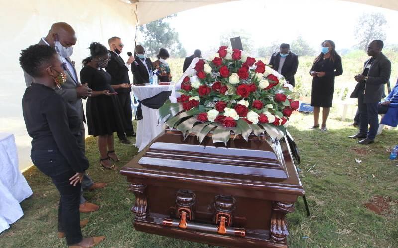 Ruth Matete husband buried in brief ceremony in Nairobi