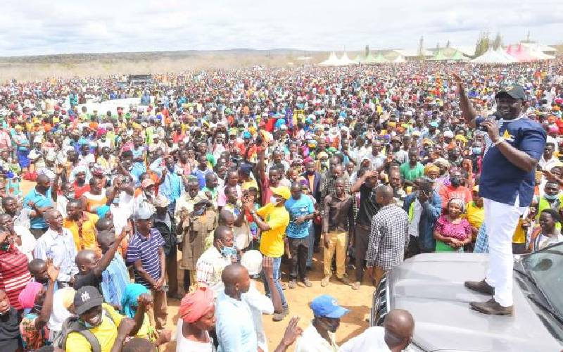 Ruto claims Raila is the main cause of food shortage