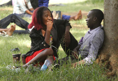 Shrinking public spaces force Nairobians to make out, have fun on flyovers and roundabouts