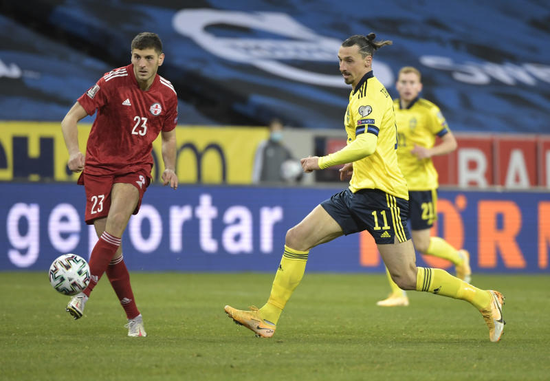 Sweden edge Georgia 1-0 as Ibra makes winning return
