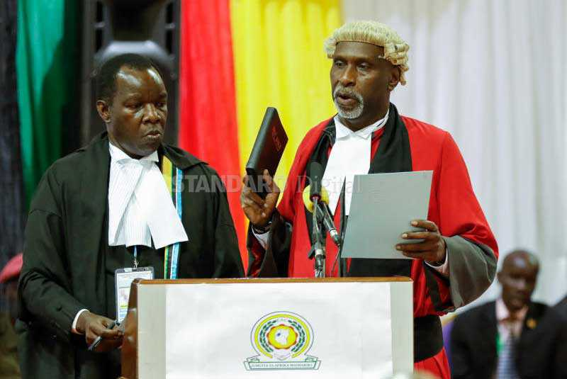 Nyachae sworn in as Judge of East African court