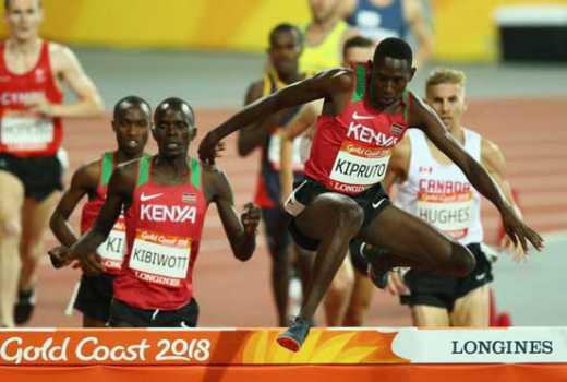 Kipruto leads clean sweep for Kenya in men's 3,000m steeplechase