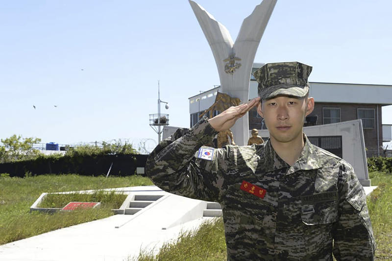 Tottenham Hotspur star Son Heung-min completes three-week military training