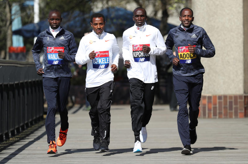 Which marathon star will race to victory in London?
