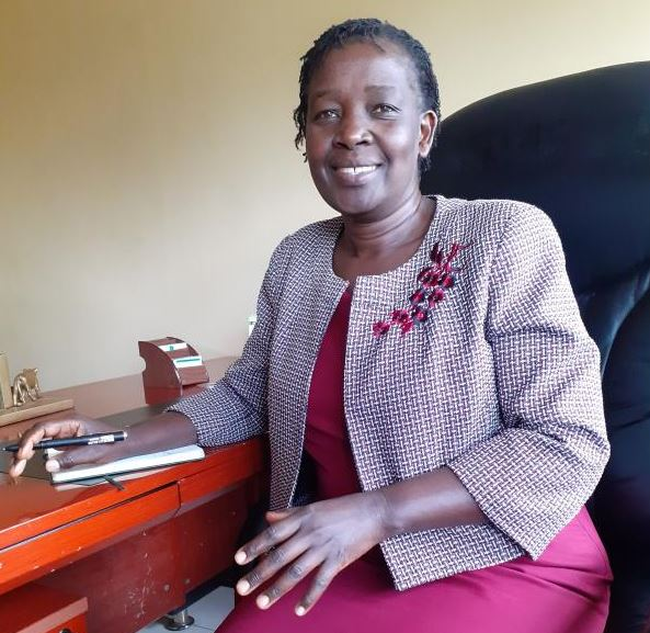 Nyamira CEC for Agriculture Peris Mong'are during the interview in her office on 19/06/2019. [Stanley Ongwae, Standard]