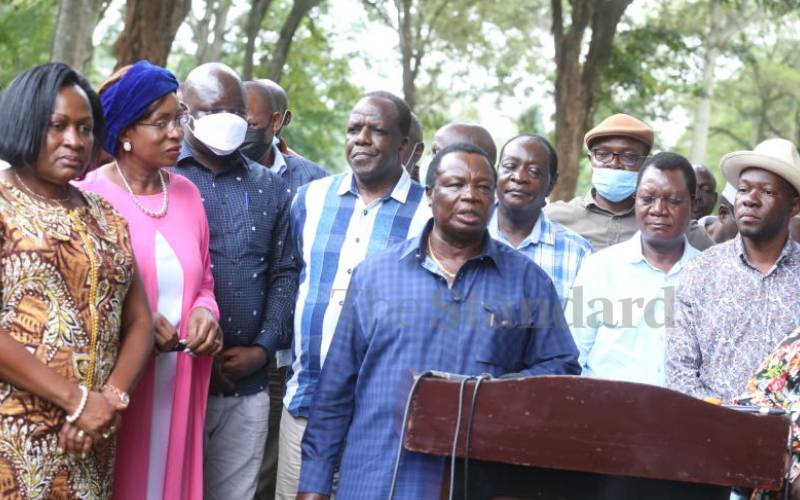 Atwoli sent to negotiate with other regions for Western's good