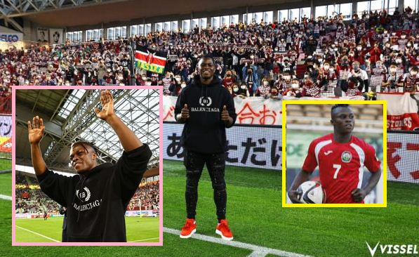 Ayub Timbe unveiled before thousands of Vissel Kobe fans