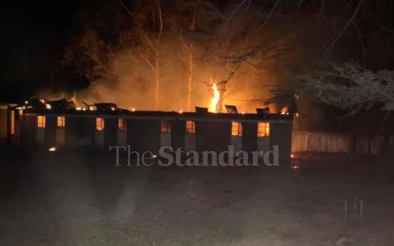 Boys burn dorm after being barred from church service