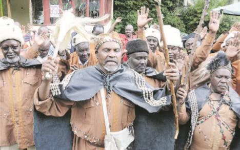 Central Kenya men turn to old customs